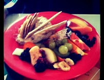 Our Chicken Salad with Fruit Colorful Presentation